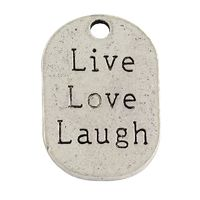 "Metalliriipus ""Live Love Laugh"""